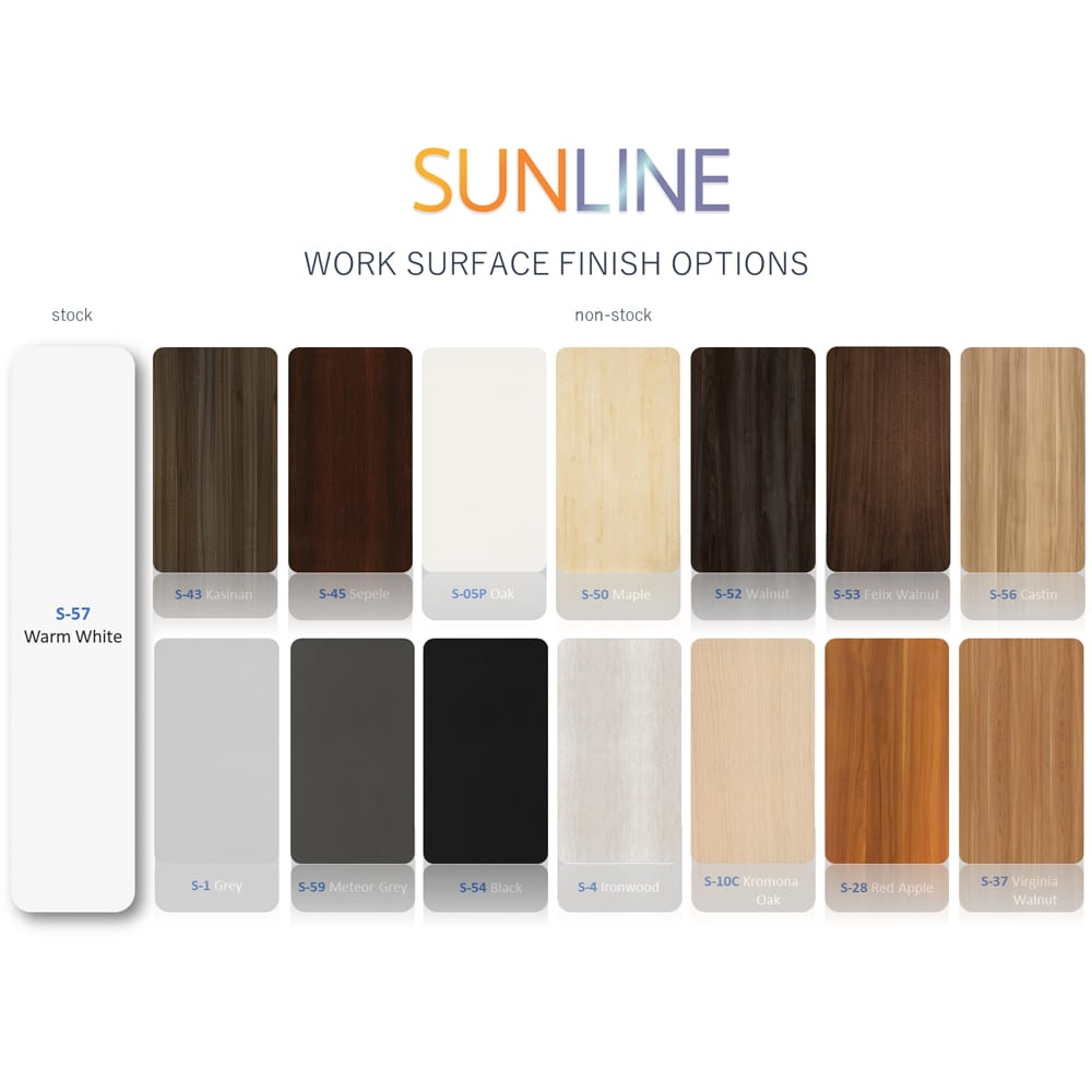 Sunline Cubicle Surface Color Options
