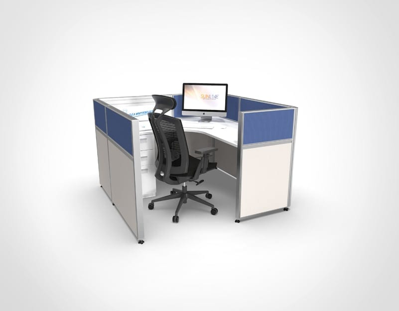 Sliding Cubicle System - Blue