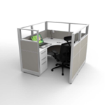 Discount New Office Cubicle - Light Grey