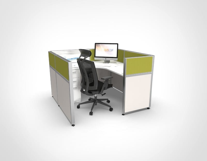 Sliding Cubicle System - Green