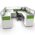 8x8 Cubicle with Green