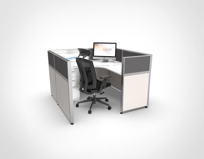 Sliding Cubicle System - Grey