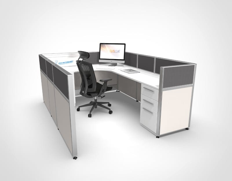 "Modern Cubicle with 41"" Walls"