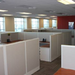 White Herman Miller cubicles installed in Milwaukee office