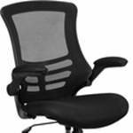 mid-back Black Mesh chair raised