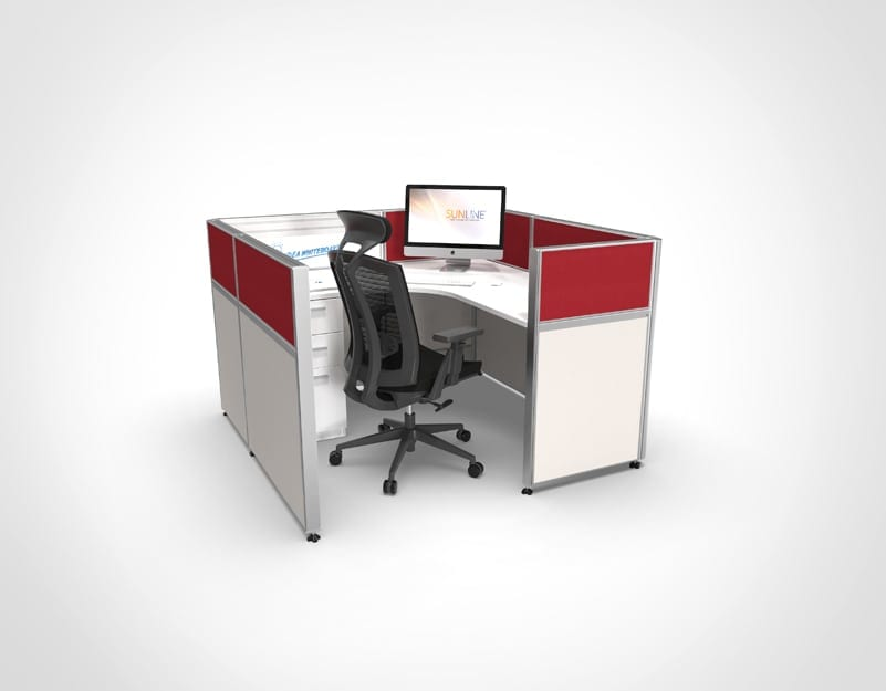 Sliding Cubicle System - Red
