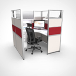 Red Sliding Cubicle | Workstation