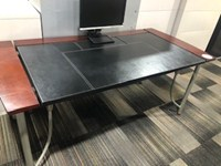 70 x 35 Leather Desk