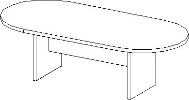 rendering of 8 ft racetrack conference table