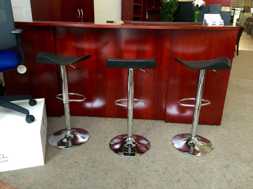 Chrome Curved Seat Barstool New Ofw Office Furniture