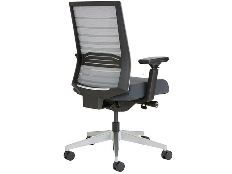 Mesh back ergonomic office chair with arms and wheels
