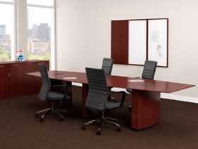 10 foot conference table with chairs in Milwaukee office