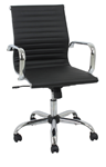 black mid-back modern executive office chair