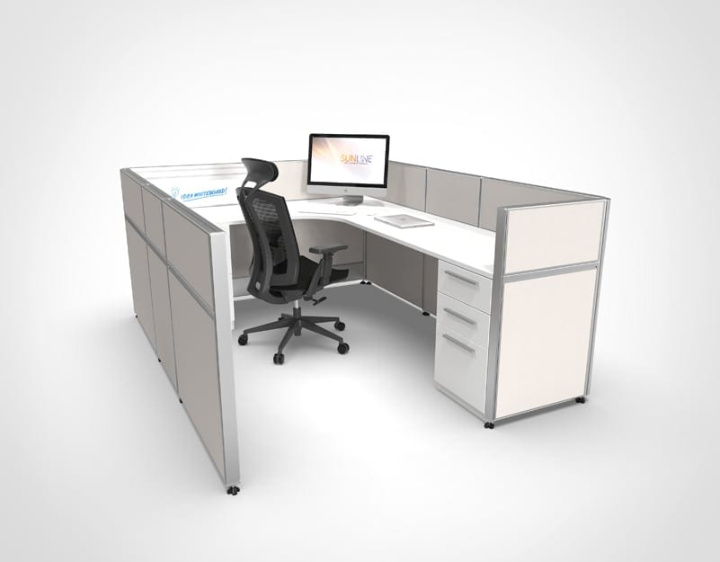 White Sunline Cubicle