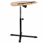 laminate top adjustable desk with back rail