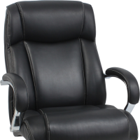 Heavy duty black leather office chair up to 500lbs