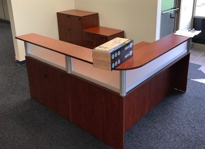 Reception desk and storage drawers Milwaukee