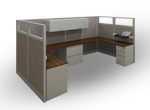 Single desk cubicles