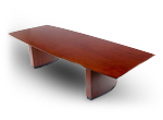 Business conference table with center media strip